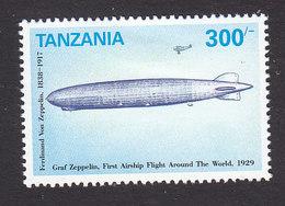Tanzania, Scott #960, Mint Hinged, Graf Zeppelin, Issued 1992 - Tanzania (1964-...)