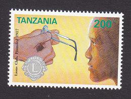 Tanzania, Scott #959, Mint Hinged, Lions Club, Issued 1992 - Tanzania (1964-...)