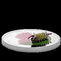 Coins Of Canada 2018. 1 Ounce. Pure Silver Coin - Murano Glass Caterpillar - Circulation: 5000 - Canada