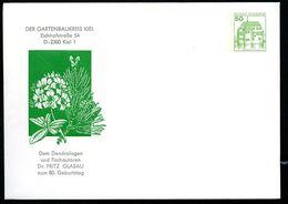 Bund PU113 B2/011 Privat-Umschlag KIEFER DR. FRITZ GLASAU Kiel 1986 - Pflanzen Und Botanik