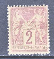 FRANCE  88  Type  II  *  Perf 14 X 13 1/2 - 1876-1898 Sage (Type II)
