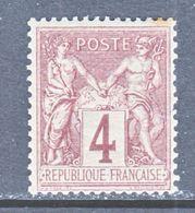 FRANCE  90  Type  II  *  Perf 14 X 13 1/2 - 1876-1898 Sage (Type II)