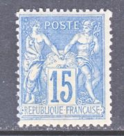 FRANCE  92  Type  II  *  Perf 14 X 13 1/2 - 1876-1898 Sage (Type II)