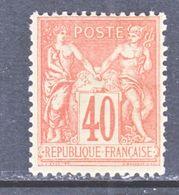 FRANCE  95  Type  II  *  Perf 14 X 13 1/2 - 1876-1898 Sage (Type II)