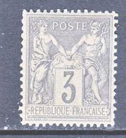 FRANCE  97  Type  II  *  Perf 14 X 13 1/2 - 1876-1898 Sage (Type II)