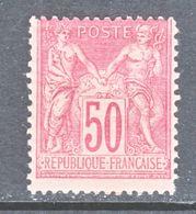 FRANCE  101    Type  II   *  Perf 14 X 13 1/2 - 1876-1898 Sage (Type II)