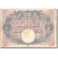 France, 50 Francs, 50 F 1889-1927 ''Bleu Et Rose'', 1921, 1921-05-14, B - 1871-1952 Anciens Francs Circulés Au XXème
