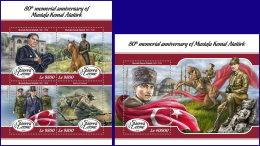 SIERRA LEONE 2018 MNH** Mustafa Kemal Atatürk M/S+S/S - OFFICIAL ISSUE - DH1808 - Persönlichkeiten