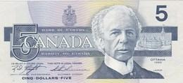 Canada - Billet De 5 Dollars - Laurier - 1986 - Canada
