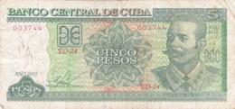 Cuba - Billet De 5 Pesos - Antonio Maceo - 2015 - Cuba