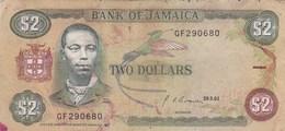 Jamaïque - Billet De 2 Dollars - Paul Bogle - 29 Mai 1992 - Jamaica