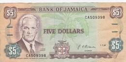 Jamaïque - Billet De 5 Dollars - Norman Manley - 1er Juillet 1991 - Jamaica