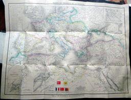 GRECE TURQUIE RUSSIE CARTE DU THEATRE DE LA GUERRE EN ORIENT 1850 CRIMEE SEBASTOPOL - Topographical Maps