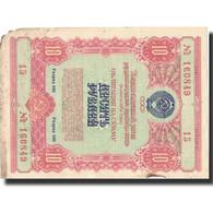 Russie, 10 Rubles, 1954, 1954, B+ - Russie
