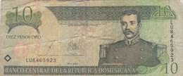 République Dominicaine - Billet De 10 Pesos - Matias Ramon Mella - 2003 - Dominicana