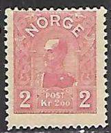 Norway   1907   Sc#66  2k   MLH*    2016 Scott Value $185 - Norway