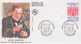 Enveloppe  FDC  1er Jour  FRANCE     INSTITUT  PASTEUR   Louis  PASTEUR   ARGENTEUIL   1987 - FDC