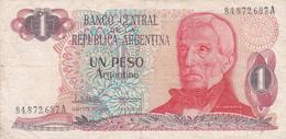 Argentine - Billet De 1 Peso - Général San Martin - Non Daté - Argentina