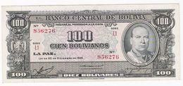 Bolivie - Billet De 100 Bolivianos - 20 Décembre 1945 - Villaroel - Presque Neuf - Bolivia