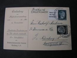 ADOLF ZD Very Nice 1942 Nürnberg Briefmarkenverein - Zusammendrucke