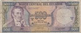 Equateur - Billet De 500 Sucres - Eugenio De Santa Cruz Y Espejo - 8 Juin 1988 - Equateur