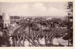 CPA EYGURANDE MERLINES. Gare, Vue Générale Des Voies. Wagons. - Stations With Trains