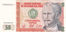 Pérou - Billet De 50 Intis - Nicolas De Pierola - 26 Juin 1987 - Neuf - Peru