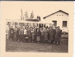 MINI PHOTO---Sortie En Car Le 6 Avril 1956--( Bus-car )--voir 2 Scans - Photographs