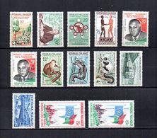 Madagascar   1960-62  .- Y&T Nº  351-352-353-354-355/356-357/359-360/361-362/363   (  * Sin Goma  ) - Madagascar (1960-...)