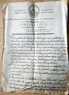 74 SAVOIE CHAMBERY DEPARTEMENT DU MONT BLANC 1802 AMPLATION  SIGNATURES MANUSCRITES NAPOLEON - Documents Historiques