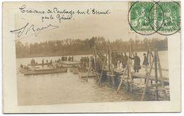 ARMEE BELGE : Travaux De Pontage Sur L'Escaut Par Le Génie - 1912 - Manöver