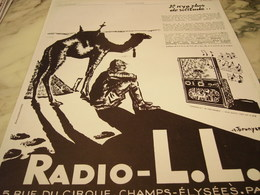 ANCIENNE PUBLICITE PLUS DE SOLITUDE RADIO LL 1928 - Other