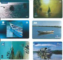 6 Télécartes Brésil Bateau Boat  (D 334) - Bateaux