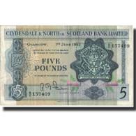 Billet, Scotland, 5 Pounds, 1962, 1962-06-01, KM:196, TTB - Schotland