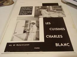 ANCIENNE PUBLICITE CUISINE DE CHARLES BLANC  1930 - Publicidad