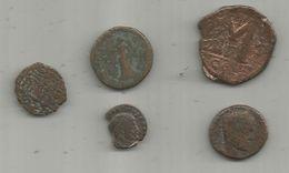 Monnaie, à Identifier , 2 Scans , LOT DE 5 MONNAIES - Origine Sconosciuta