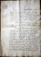 63 AMBERT PROCES ENTIEREMENT MANUSCRIT POUR VENTE ILLICITE DE MAISON AUX ENCHERES 1806 - Advertising