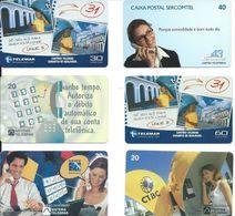 6 Télécartes Brésil Téléphone Phone (D 338) - Téléphones
