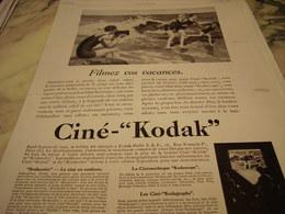 ANCIENNE PUBLICITE FIMEZ VOS VACANCES  CINE KODAK  1929 - Photography