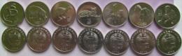 "North Korea Set Of 7 Coins 2002 ""Animals"" UNC 7x1/2 Chon - Korea, North"