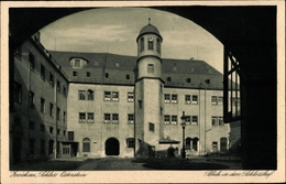 Cp Zwickau In Sachsen, Schloss Osterstein, Blick In Den Schlosshof - Allemagne