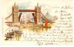 POSTAL   LONDRES   -INGLATERRA -PUENTE DE LA TORRE  ( TOWER BRIDGE) - Londres