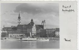 """AK 0865  Linz An Der Donau - Landungsplatz Mit Dampfer """" Budapest """" / Verlag Kaiser Um 1934 - Linz Urfahr"""