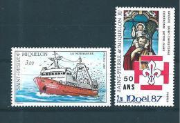 Timbres De St Pierre Et Miquelon  De 1987  N°482/83  Neufs ** Parfait - Unused Stamps