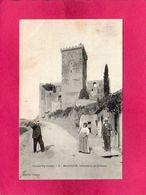 65 Hautes-Pyrenées, Mauvezin, Hôtellerie Et Château, Animée, 1908, (Couget) - Sonstige Gemeinden