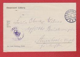 Document Finanzamt Coburg  -  27/6/1934 - Allemagne