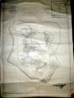 DOM TOM TAHITI ILE DE BORA BORA ILES SOUS LE VENT CARTE ANNEE 1948 REVUE EN 1967 DECORATIVE - Nautical Charts