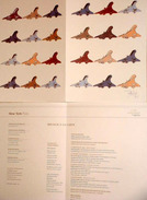 Menu CONCORDE, Illustré Par Jean Boggio 2001, 12 Avions, NYC-PAR - Obj. 'Remember Of'