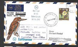 Australie First Flight Djakarta - Sydney, Djakarta 17  07 1969 - Covers & Documents