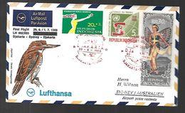 Australie First Flight Djakarta - Sydney, Djakarta  30  06  1969 - Covers & Documents